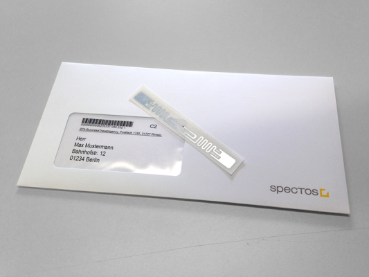 letter and rfid tag