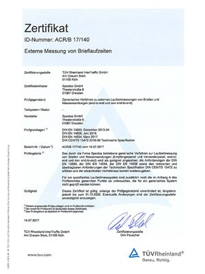 Zertifikat Generisches Messsystem