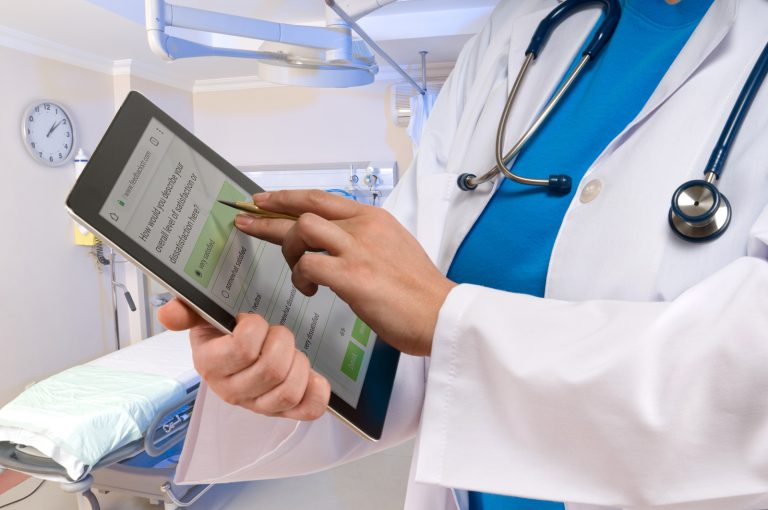 Example for Referring Doctors Surveys on tablet